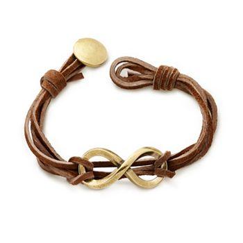 Bronze Infinity Leather Knot Bracelet James Avery