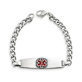 Enameled Medical Alert Bracelet