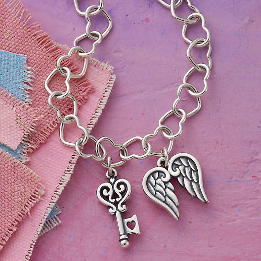 View Larger Image of Connected Hearts Charm Bracelet