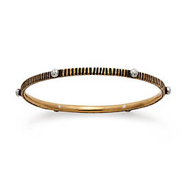 Zanzibar Hatched Bangle Bracelet