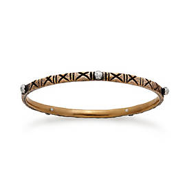 Zanzibar Cross Hatched Bangle Bracelet