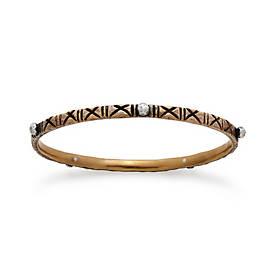 Zanzibar Cross Hatched Bangle Bracelet