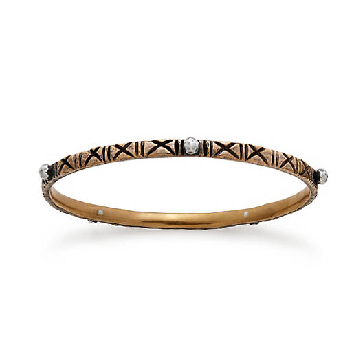 View Larger Image of Zanzibar Cross Hatched Bangle Bracelet