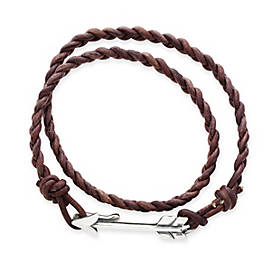 Soaring Arrow Leather Bracelet