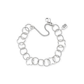 Quatrefoil Twisted Wire Charm Bracelet