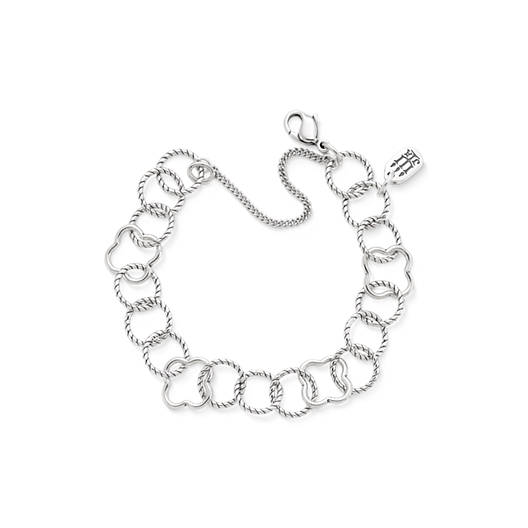 View Larger Image of Quatrefoil Twisted Wire Charm Bracelet