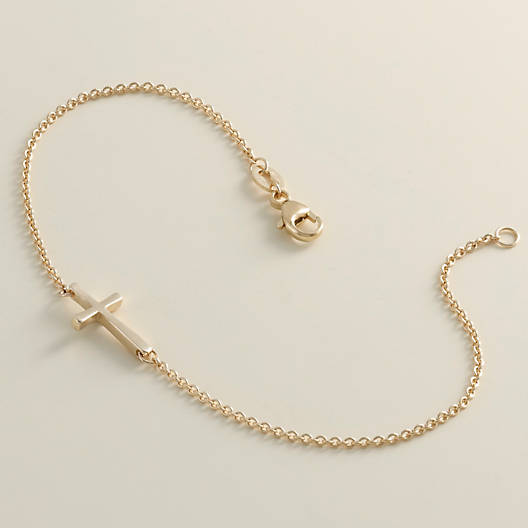 View Larger Image of Petite Latin Cross Link Bracelet