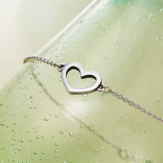 View Larger Image of Petite Heart Link Bracelet