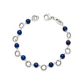Twisted Wire Link Bracelet with Sodalite