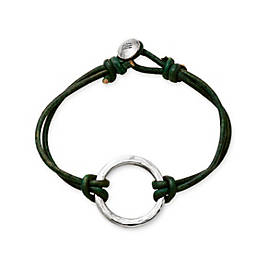 Riata Leather Charm Bracelet