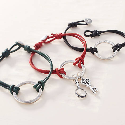 Riata Leather Charm Bracelet James Avery