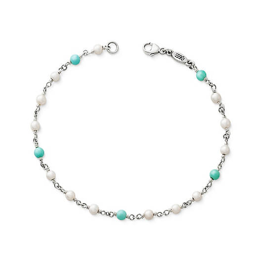 Santorini Bracelet with Turquoise & Cultured Pearl