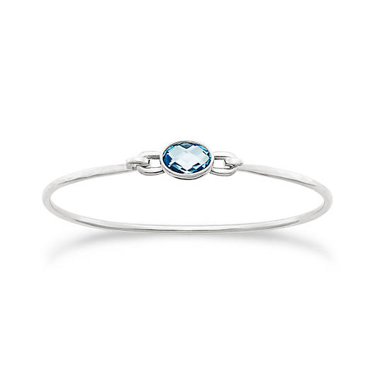 View Larger Image of Avery Isabella Hook-On Bracelet with Blue Topaz