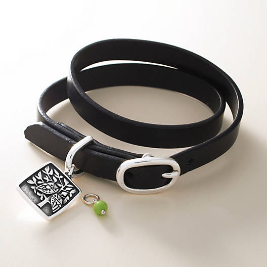 View Larger Image of Double Wrap Leather Bracelet with Buckle