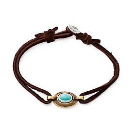 La Mesa Leather Bracelet with Turquoise