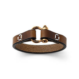 """Hold Fast"" Leather Bracelet"
