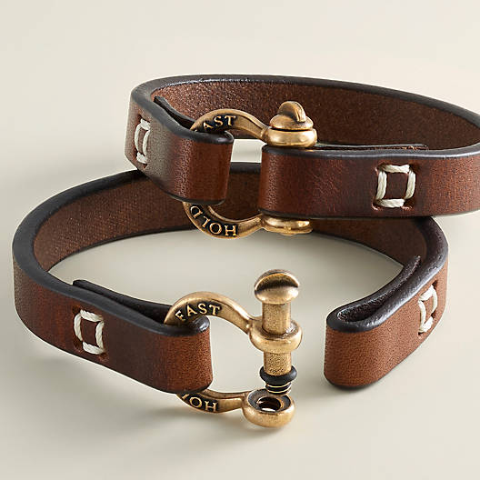 "View Larger Image of ""Hold Fast"" Leather Bracelet"