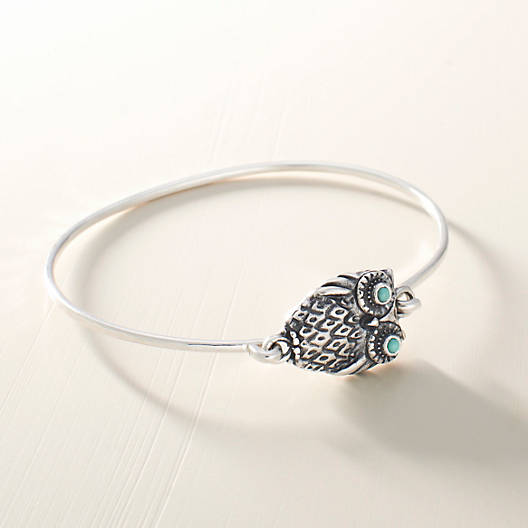 View Larger Image of Owl Hook-On Bracelet with Turquoise