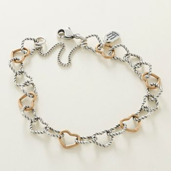 0f7a4469a17d6 Twisted Wire Connected Hearts Charm Bracelet - James Avery