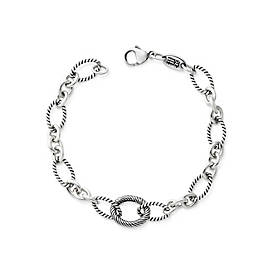 Oval Twist Changeable Charm Bracelet