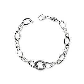 Oval Twist Changeable Charm Bracelet