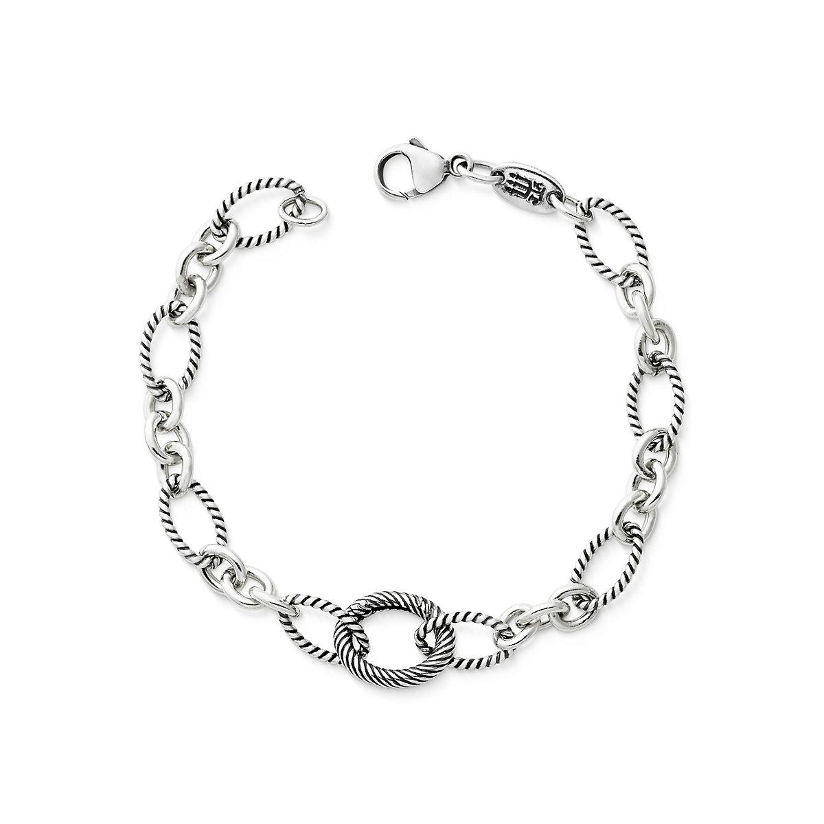 Oval Twist Changeable Charm Bracelet - James Avery