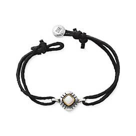 Pueblo Mother of Pearl Leather Bracelet