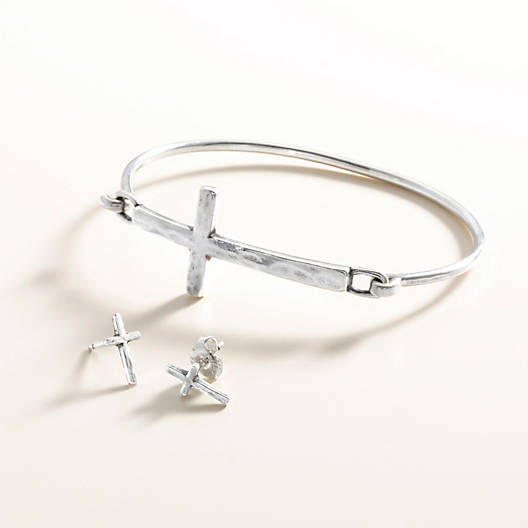 View Larger Image of Horizon Cross Hook-On Bracelet