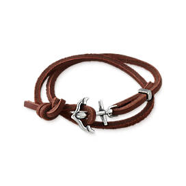 Anchored In Faith Leather Bracelet