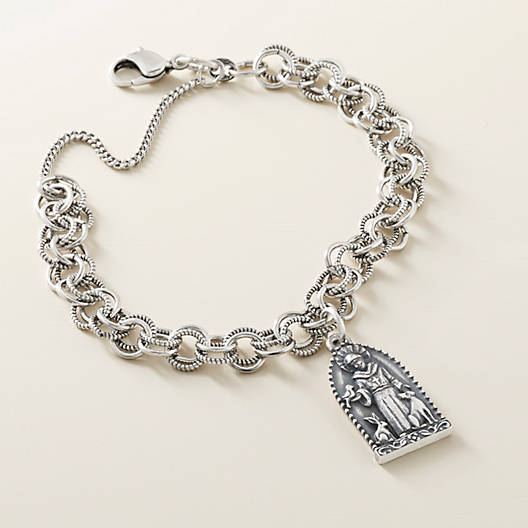 View Larger Image of Double Link Charm Bracelet