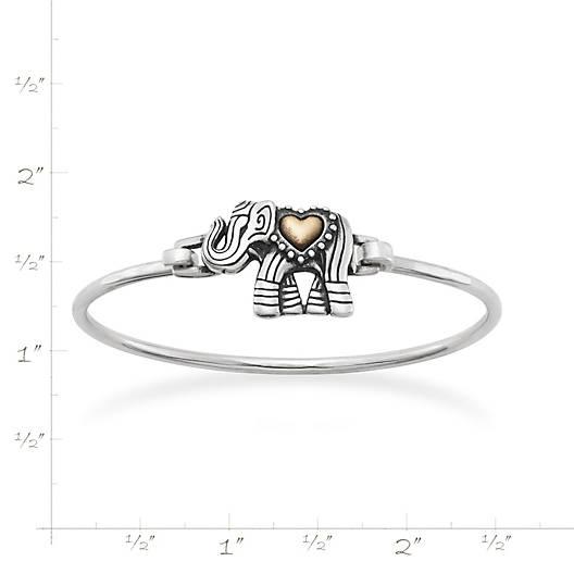 View Larger Image of Adorned Elephant Hook-On Bracelet