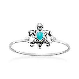 Turquoise Turtle Hook-On Bracelet