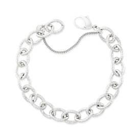 Hammered Charm Bracelet