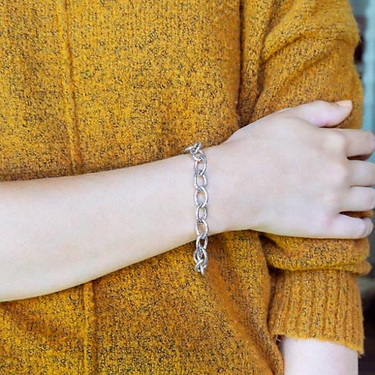 View Larger Image of Hammered Charm Bracelet