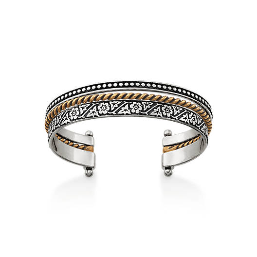 View Larger Image of Styled Stack Cuff Bracelet