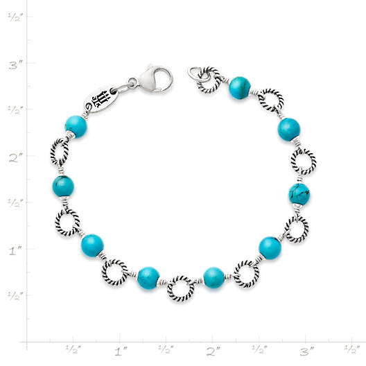 View Larger Image of Twisted Wire Link Bracelet with Turquoise