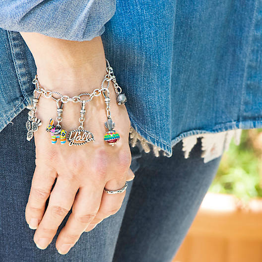 View Larger Image of Oval Twist Charm Bracelet