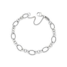Oval Twist Charm Bracelet