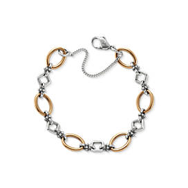 Geometric Links Charm Bracelet