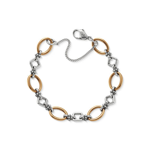 View Larger Image of Geometric Links Charm Bracelet
