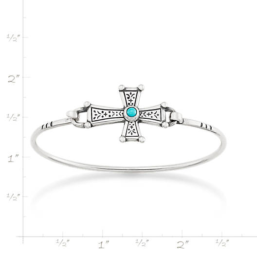 View Larger Image of Mission Cross Hook-On Bracelet with Turquoise