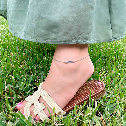View Larger Image of Petite Engravable Horizon Ankle Bracelet
