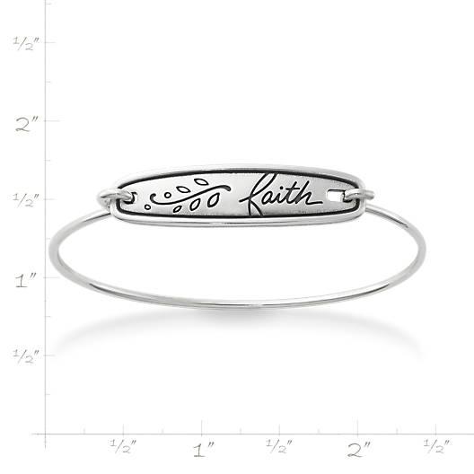 "View Larger Image of ""Faith"" Hook-On Bracelet"