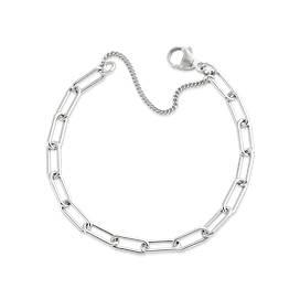 Elongated Link Charm Bracelet