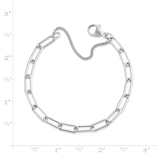 View Larger Image of Elongated Link Charm Bracelet