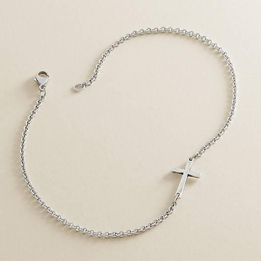 View Larger Image of Horizon Cross Ankle Bracelet