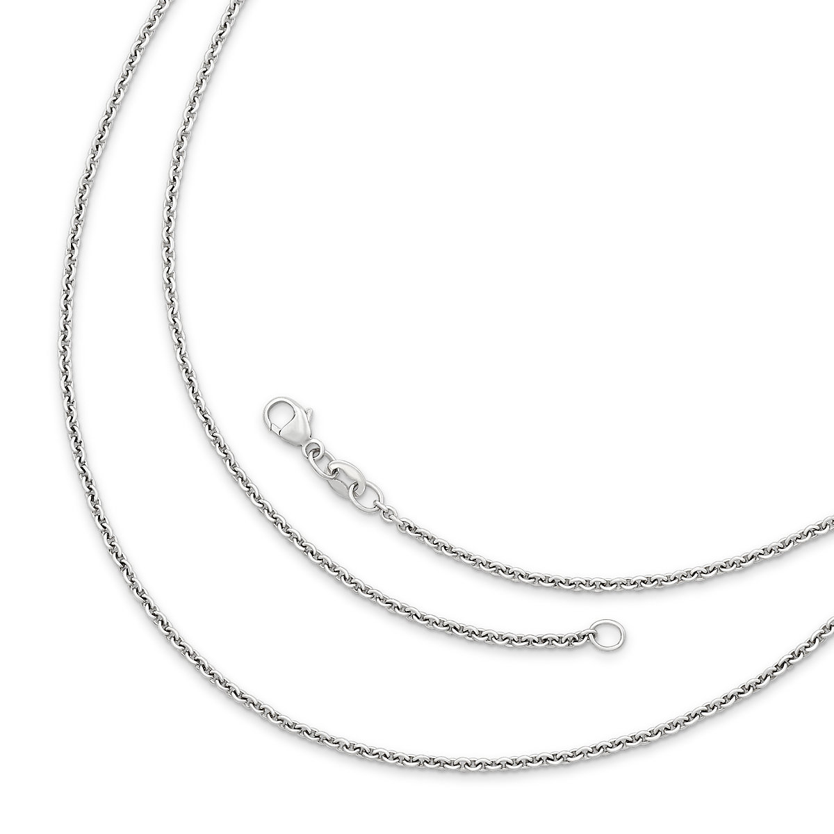 Silver necklaces pendant necklaces james avery light cable chain mozeypictures Choice Image