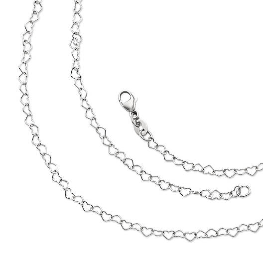 View Larger Image of Delicate Connected Hearts Chain