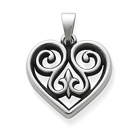French Heart Pendant, Small