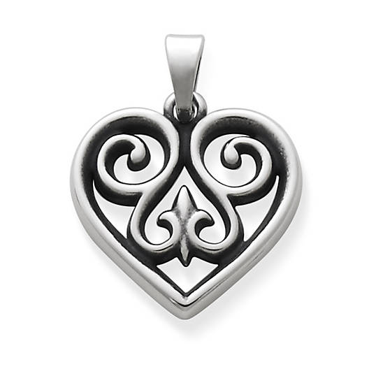 Charms for bracelets and necklaces james avery french heart pendant small aloadofball